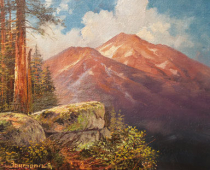Mount Shasta, painting of Mt Shasta by Stefan baumann