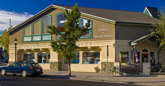 Image of street location for The Gallery in Mt Shasta. The Gallery in Mt Shasta is the primary gallery representation for artist Stefan Baumann