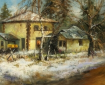 The Old Pump House, oil on canvas by Stefan Baumann