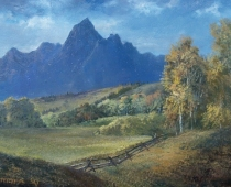 "This is an image of ""Teton Splendor"" painted by Stefan Baumann"