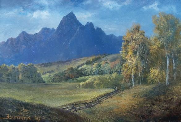 Painting The Teton Mountains En Plein Aire