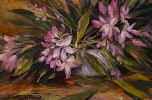 Stefan Baumann landscape artist PBS TV Painting National Parks, Plein Air, oil painting, paints Rhododendron Bloom DVD's Grand View alla prima wildlife
