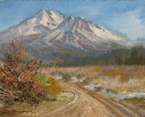 "This is an image of ""Road to the Foohills Near Mount Shasta"" painted by Stefan Baumann"