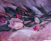 """This is an image of """"Valentine Flowers"""" painted by Stefan Baumann."""
