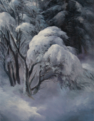 "This is an image of ""Winter Dogwood"" painted by Stefan Baumann."
