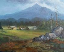 Shasta Valley, painting by artist Stefan Baumann