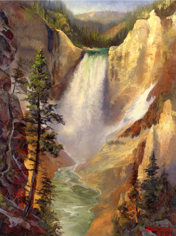 Painting Yellowstone National Park