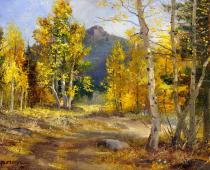 Path Through the Aspen Woods, painting by Stefan Baumann