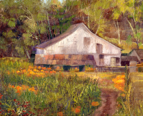 Pumpkin Time in the Country, painting by Stefan Baumann
