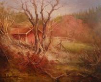 Edgewood, Study, oil on canvas. Painting by Stefan Baumann