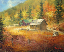 Hope Valley Fall Colors, painting by Stefan Baumann