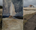 Painting A Geyser in Yellowstone Park, Part 2