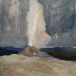 painting a geyser demonstration picture 2 for Three Keys to Plein Air Success, Inspiration, Composition & Application, Part 2