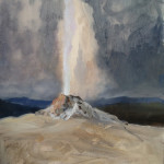 painting a geyser demonstration picture 3 for Three Keys to Plein Air Success, Inspiration, Composition & Application, Part 2