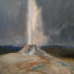 painting a geyser demonstration picture 4 for Three Keys to Plein Air Success, Inspiration, Composition & Application, Part 2