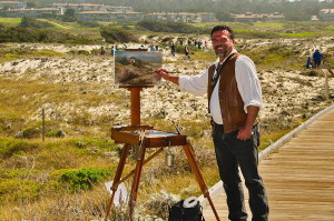 Artist Stefan Baumann captures a view of Asilomar at the Plein Air Convention 1013. Baumann demonstrates plein air painting as a guest VIP of Plein Air Magazine. This event was an important place to be if you are going to be a plein air artist.