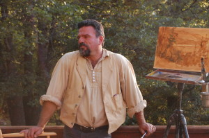 Image of artist Stefan Baumann teaching plein air painting