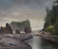Olympic National Park Painting: Misty Morning
