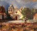 Plein Air Painting at Carmel Mission