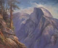 Yosemite Painting of Half Dome: Echo