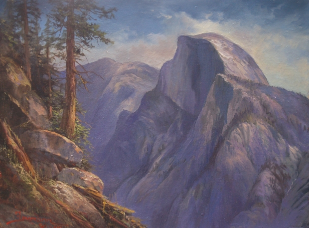 Yosemite Painting of Half Dome: Echo