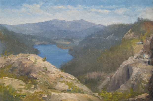 Sierra Nevada Painting: Donner Lake Study