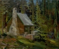 Echo Lake Painting:  The Artist's Cabin