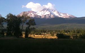 Sweeping views of Mt Shasta California